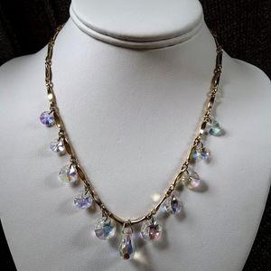 Vintage Sarah Cov Crystal Fire Choker Necklace